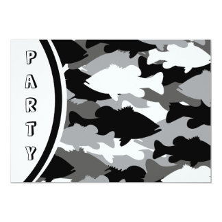 Black Camo Bass Fishing Card