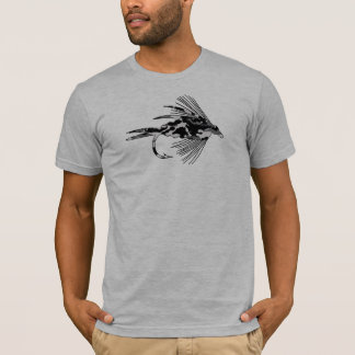 Black Camo Fly Fishing lure T-Shirt