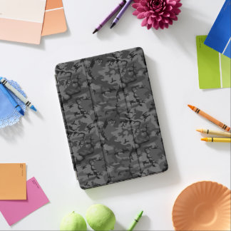 Black Camo Pattern iPad Pro Cover