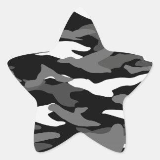 Black camouflage star sticker