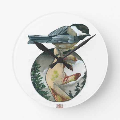 """Black Capped Chickadee"" Clocks"