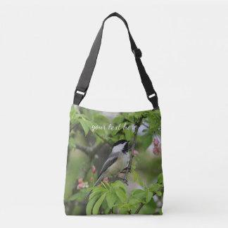 Black-capped chickadee crossbody bag