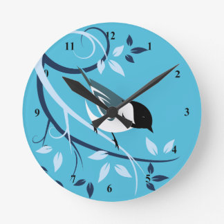Black Capped Chickadee Decorative Clocks