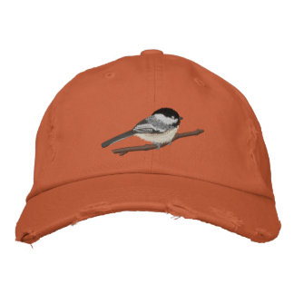 Black-capped Chickadee Embroidered Cap