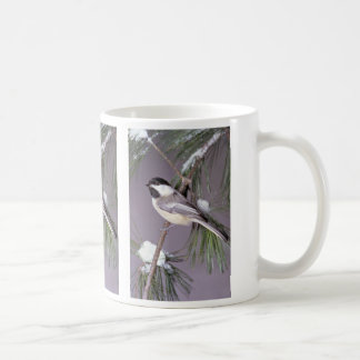 Black-capped Chickadee ? gray background Coffee Mug