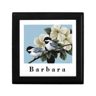 Black Capped Chickadee Personalized Keepsake Gift Box