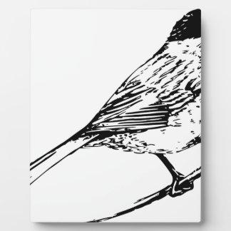 Black Capped Chickadee Plaque