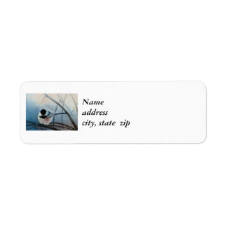 Black Capped Chickadee Postage Stamps Return Address Label