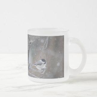 Black-capped Chickadee - Songbird Frosted Glass Coffee Mug