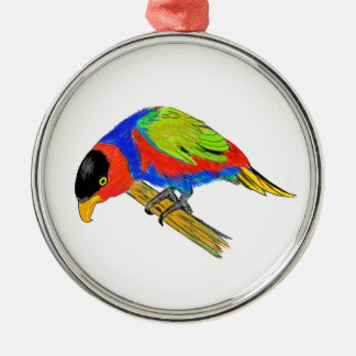 Black-capped Lory Metal Ornament