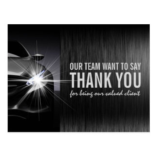 Black Car Automotive Company Thank You Postcard