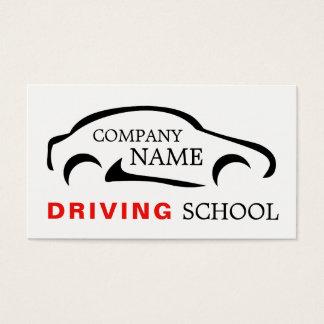 Black Car Logo, Driving Instructor Business Card