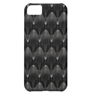Black Carbon Fiber Alien Skin Cover For iPhone 5C