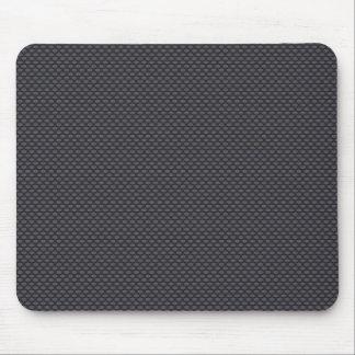 Black carbon fiber mouse pad