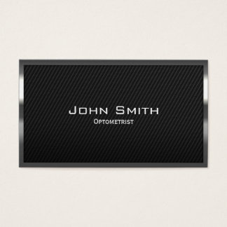 Black Carbon Fiber Optometrist Business Card