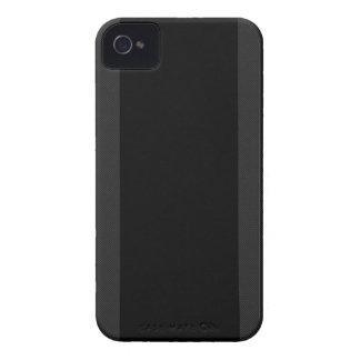 Black & Carbon Fiber Stripes iPhone 4 Case
