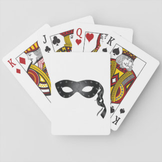Black Carnival Mask Playing Cards