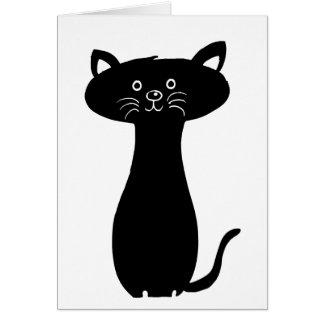 Black Cartoon Kitty Card
