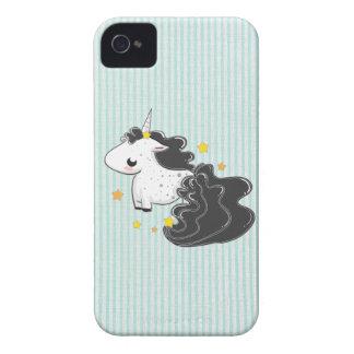 Black cartoon unicorn stars BlackBerry Bold Case