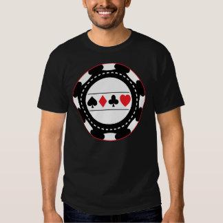 Black Casino Chip Tee Shirt