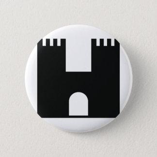black castle 6 cm round badge