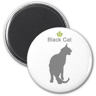 Black Cat3 g5 6 Cm Round Magnet