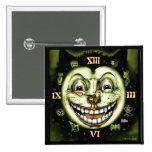 Black Cat 13 Clock Vintage Halloween Pinback Buttons