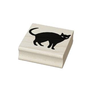 Black cat 2 silhouette art stamp