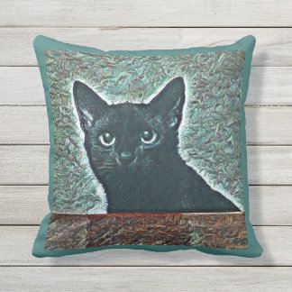 Black Cat Accent Pillow