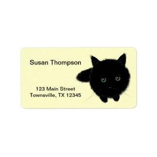 Black Cat Address Label