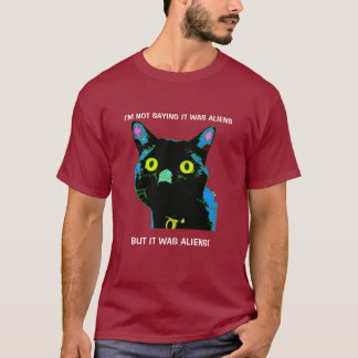 Black Cat Aliens! t-shirt