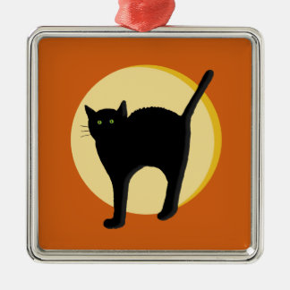 Black Cat and Harvest Moon Ornament