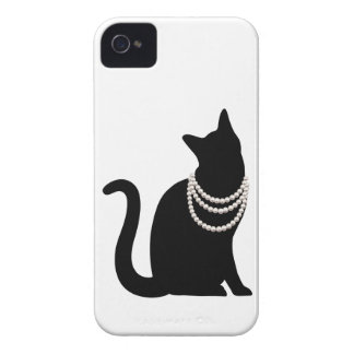 Black cat and jewel iPhone 4/4S case