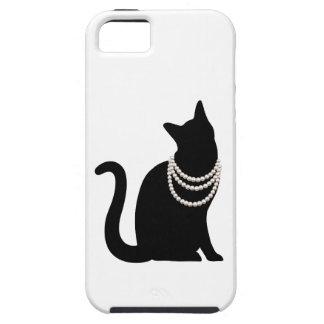 Black cat and jewel iPhone 5 case