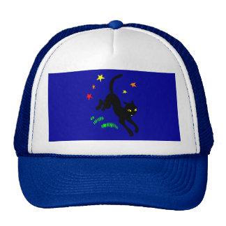 Black Cat and Magic Stars Cap