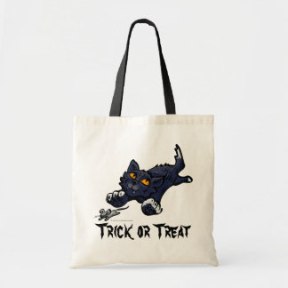 Black Cat and Mouse Trick or Treat Bag