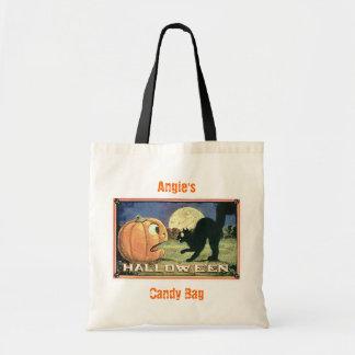 Black Cat and Pumpkin Bag