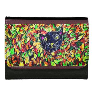 black cat art 2 wallet for women