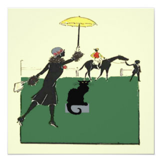 Black Cat At Horse Race Card