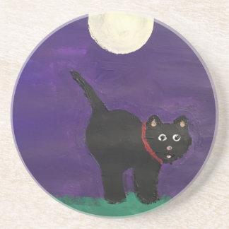 Black Cat Beverage Coasters