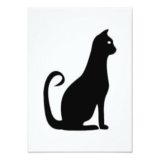 Black Cat Birthday 11 Cm X 16 Cm Invitation Card