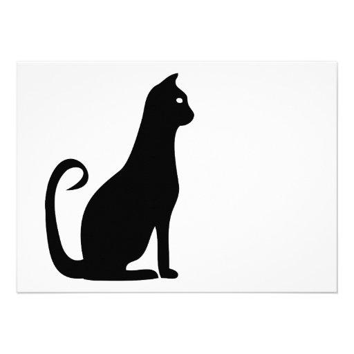 Black Cat Birthday Announcement