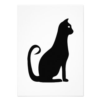Black Cat Birthday Personalized Announcements