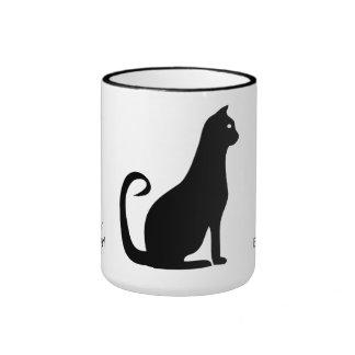 Black Cat Birthday Ringer Mug
