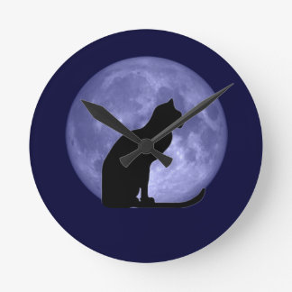 Black Cat Blue Moon clock