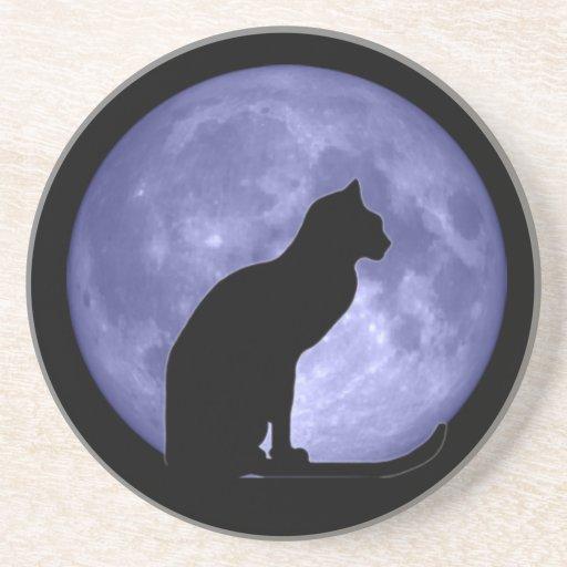 Black Cat Blue Moon Coaster
