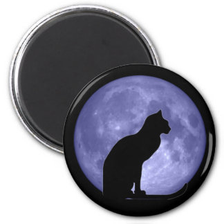 Black Cat Blue Moon Fridge magnet