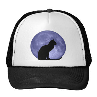 Black Cat Blue Moon hathat Cap