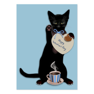 Black Cat Blue Valentine Pack Pack Of Chubby Business Cards
