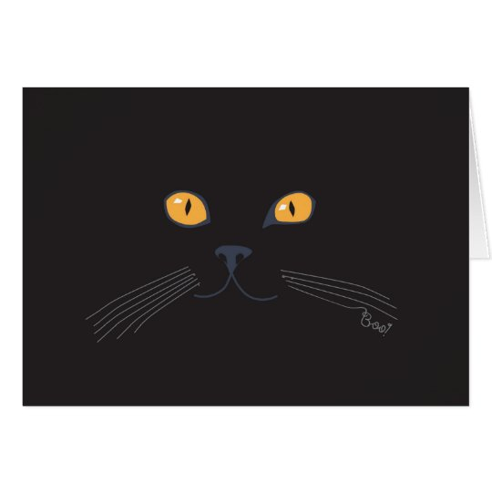 Black Cat Boo! Card